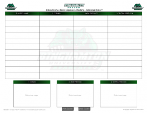 BU Interactive Attacking Set-Pieces Template