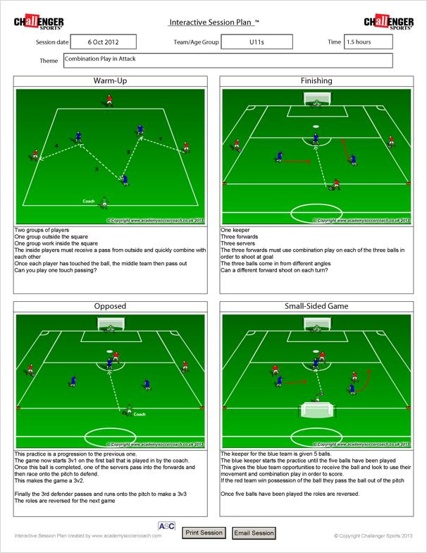 Sports coaching session plan