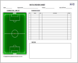 Match Review Sheet