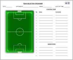 Team Selection Organiser